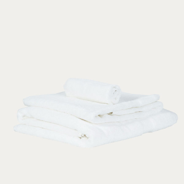 Luxury Fair Trade 100% Organic Cotton Towels - White 1