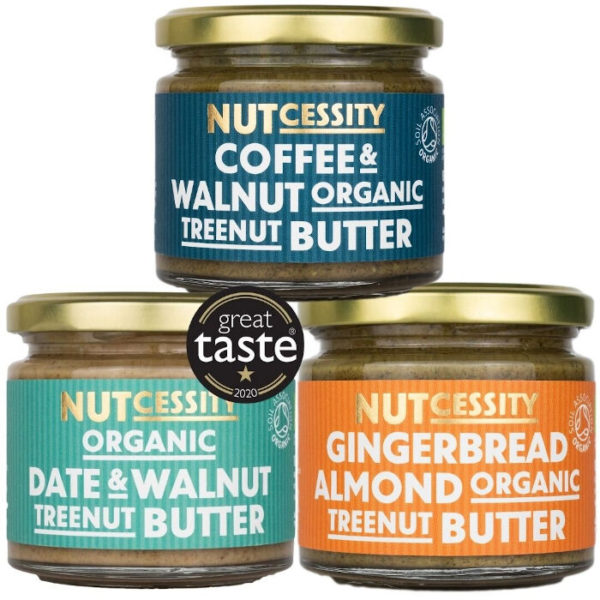 100% Organic Nut Butter Trio Pack - Ridiculously Tasty