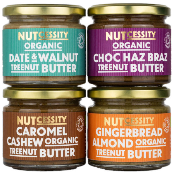 Organic Nut Butter Selection Pack - Incredibly Velvety And Indulgent Texture