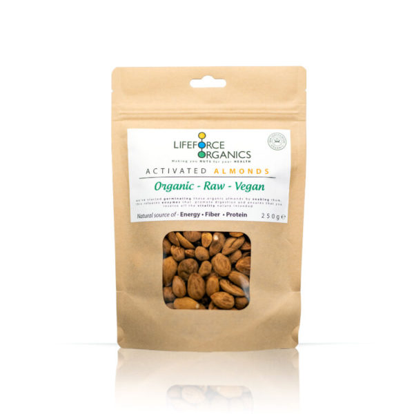 Activated Raw Organic Almonds – 100% Pure